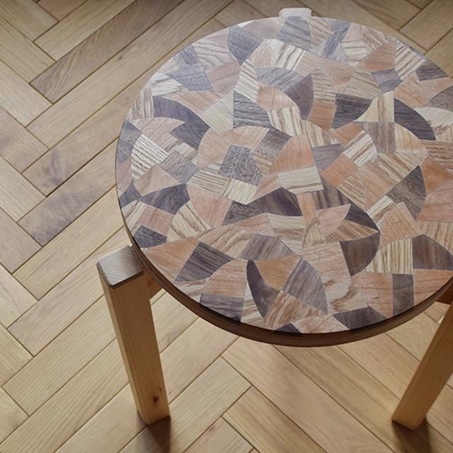 京都の木工職人が作った手作りスツール