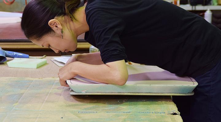 京都の椅子張り職人