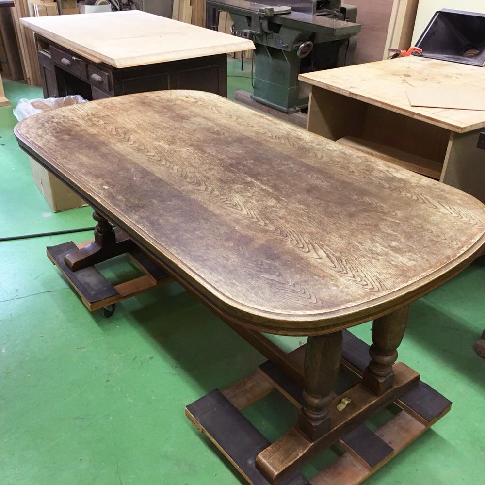 テーブル天板塗装修理