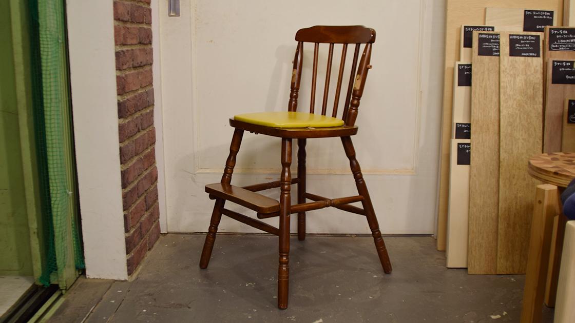 古い子供椅子の修理