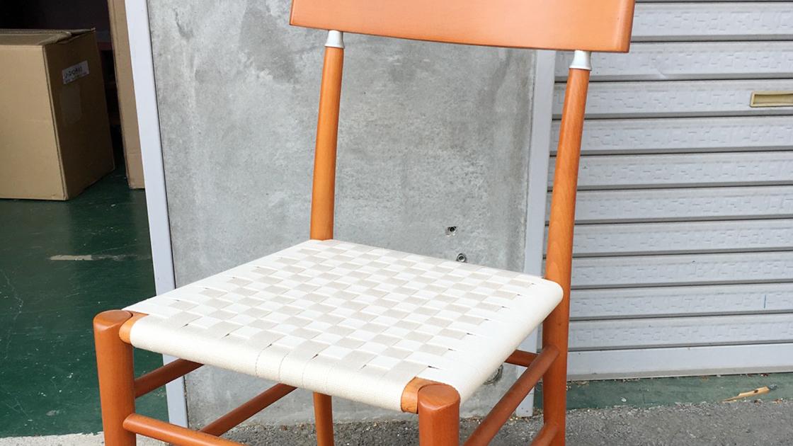 フィンガーマークス椅子張り替え