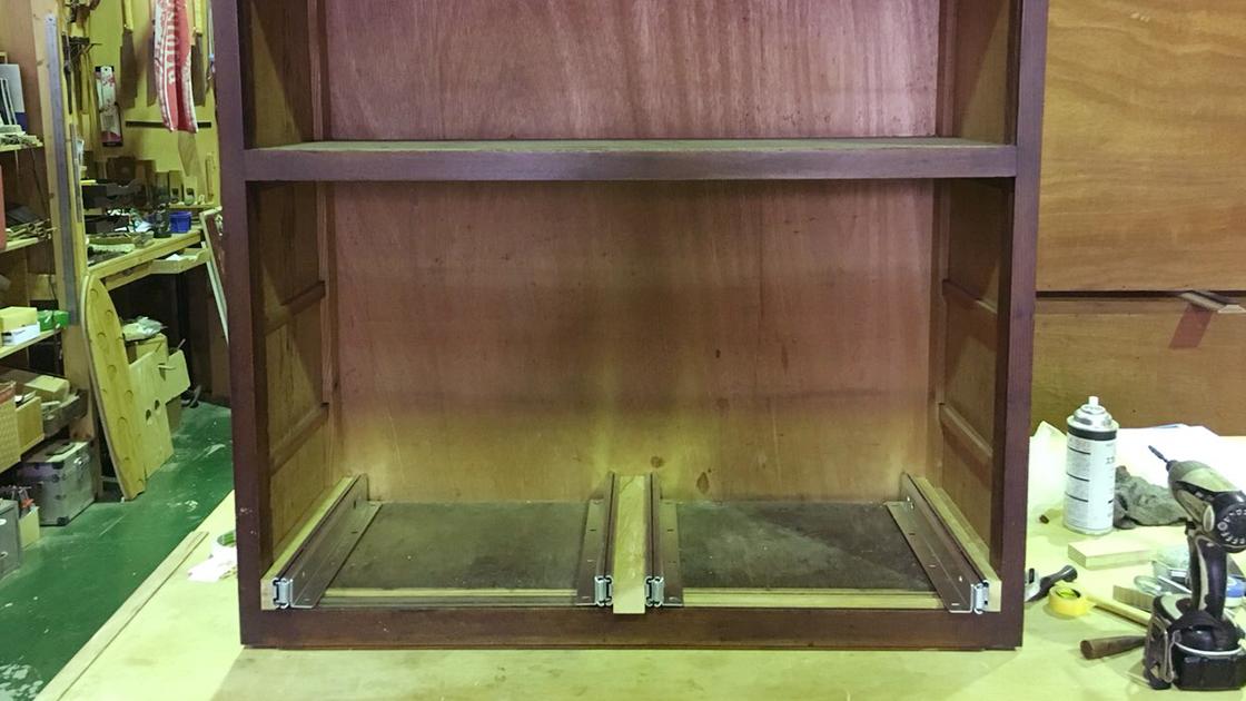 食器棚作り変え