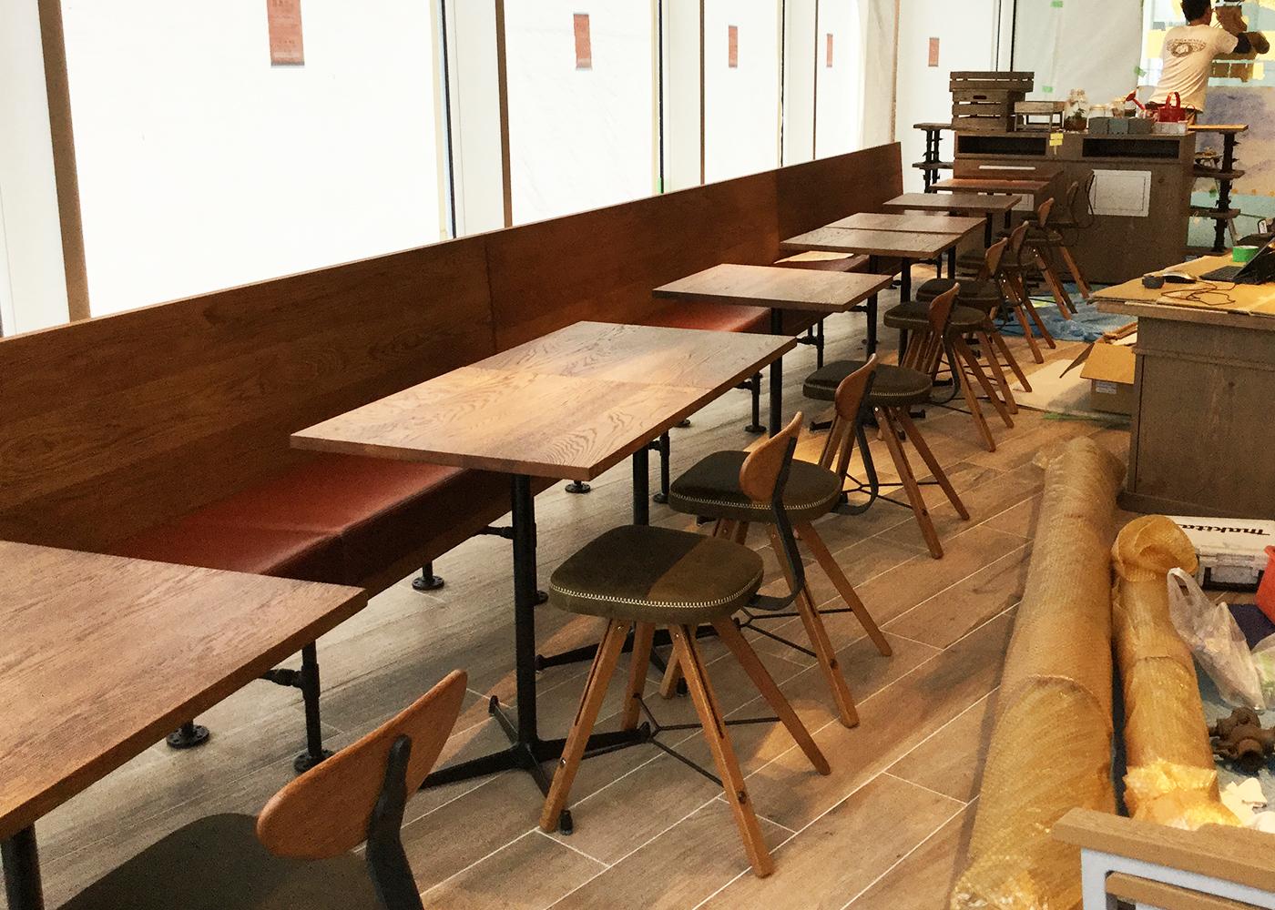 カフェ造作家具製作事例
