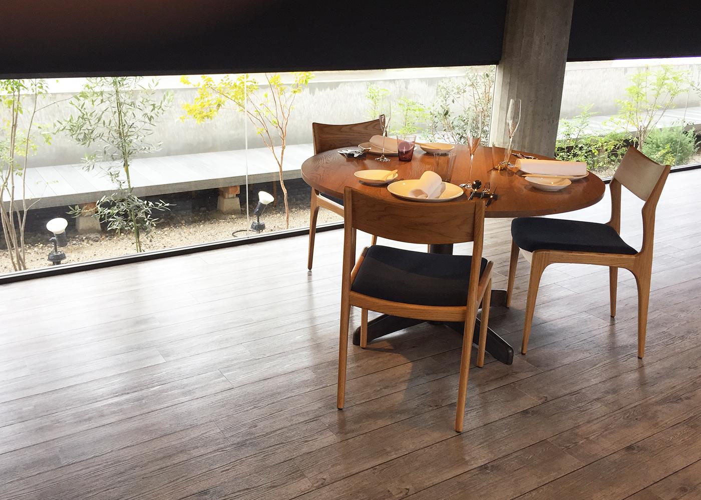 京都フレンチanpeiji様家具納品事例