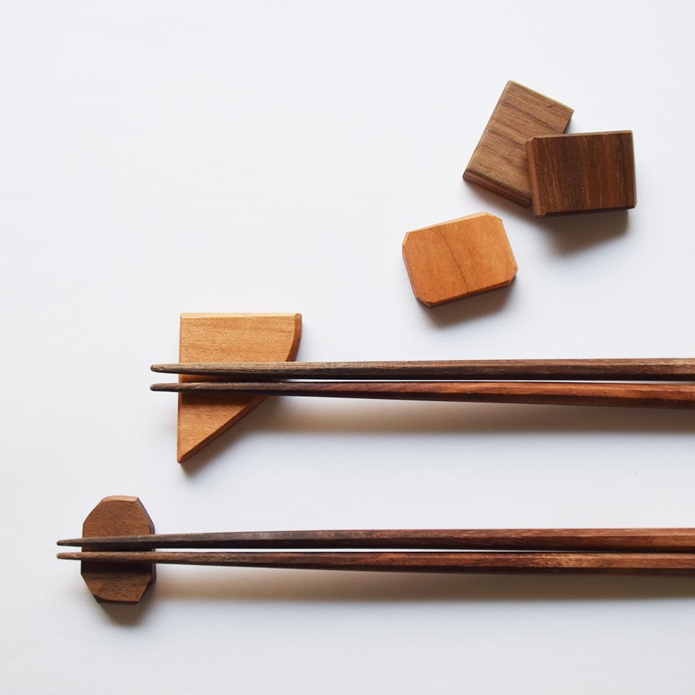 京都家具店フィンガーマークス木の端材で箸置きを作るワークショップ