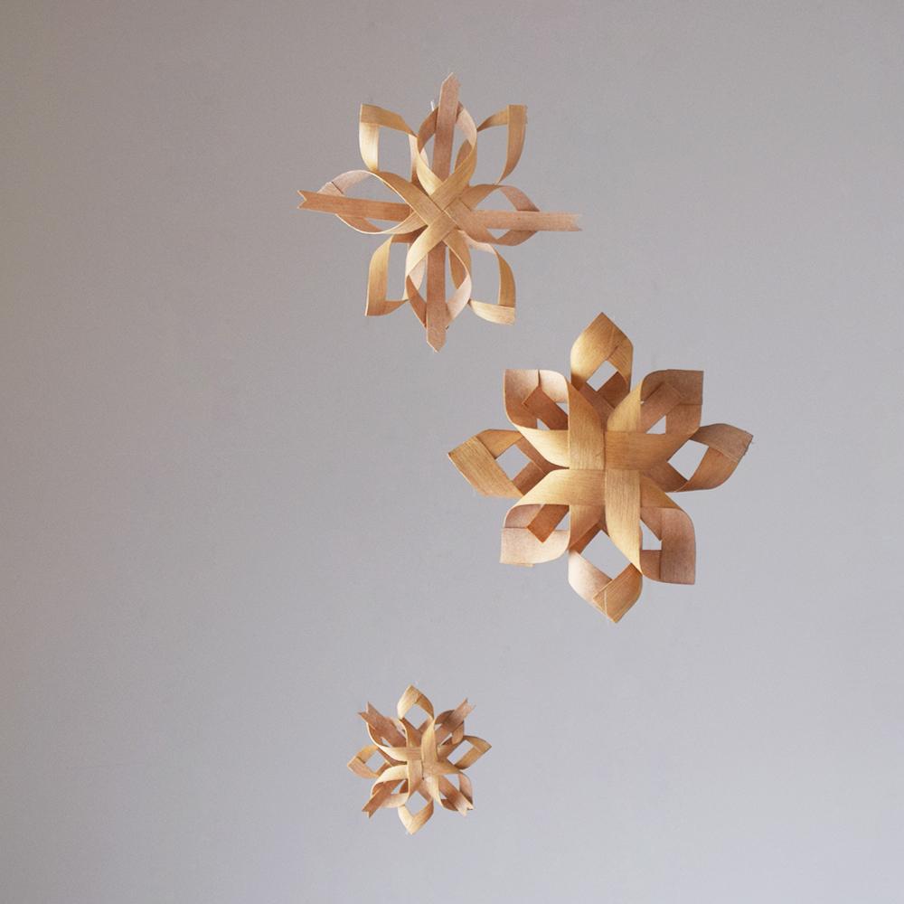 京都家具店フィンガーマークスクリスマスオーナメントを作るワークショップ