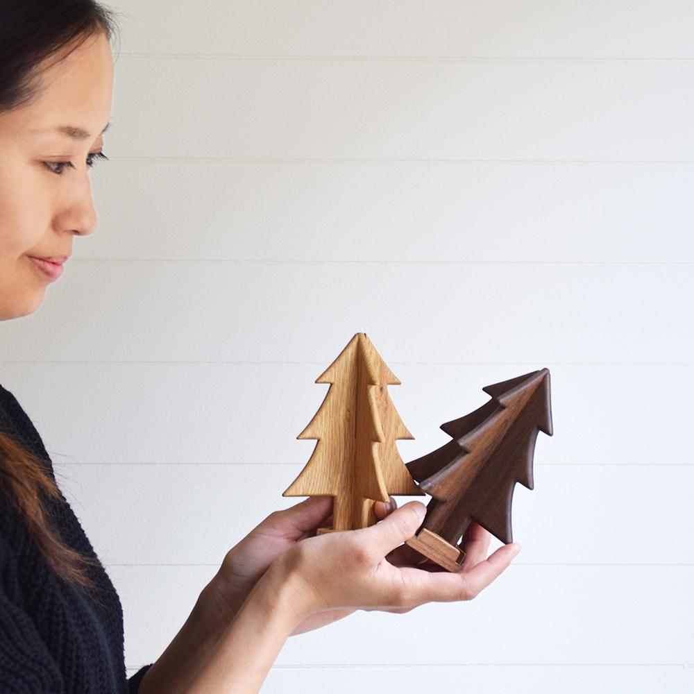 京都家具店フィンガーマークス木のツリーを作るワークショップ