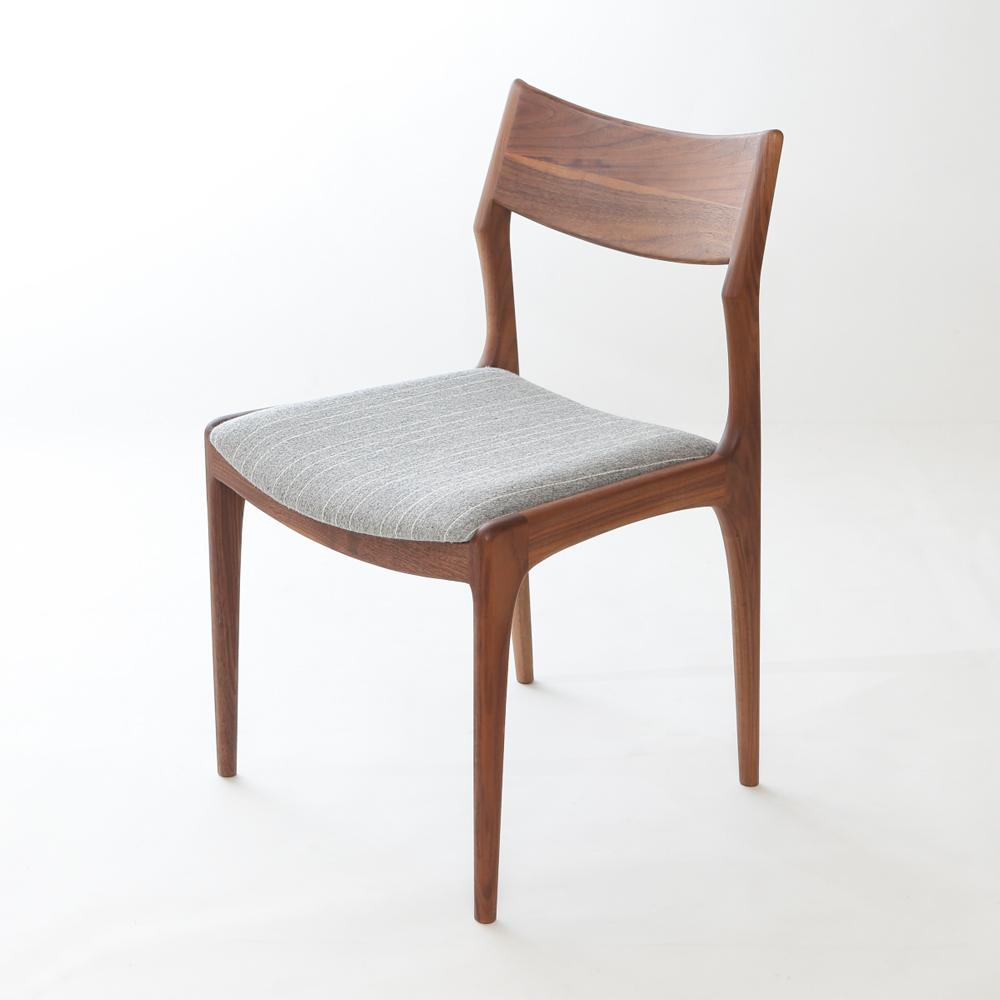 北欧デザインダイニング椅子ウォールナットデンマーク生地