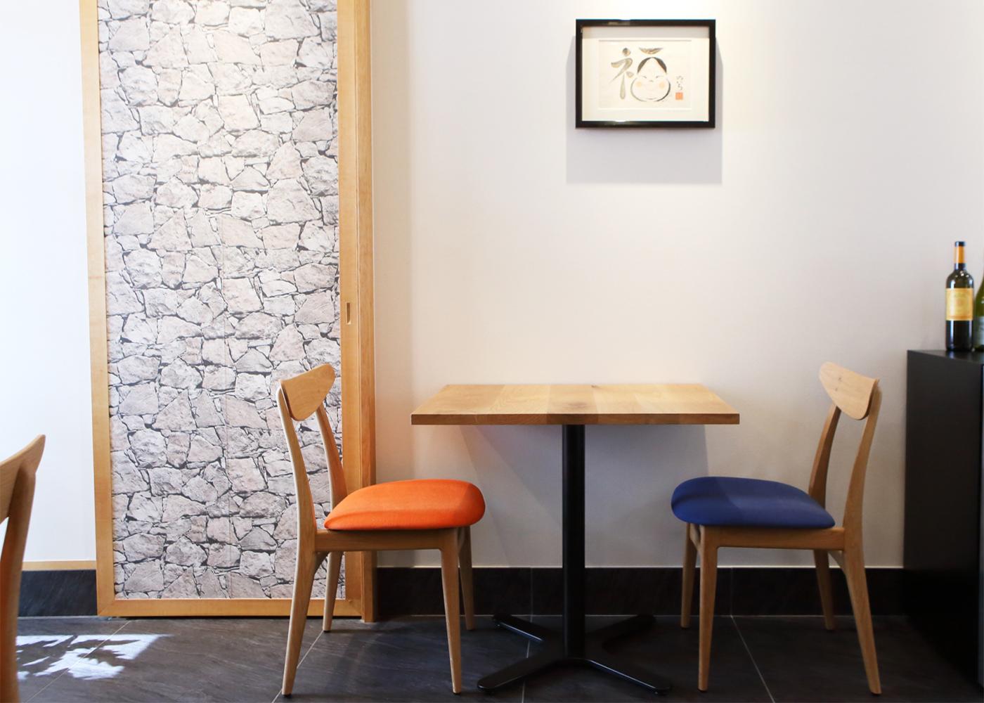 京都市東山区祇園近くの洋食店「一汁洋菜のいち」様へ店舗用家具を納品しました
