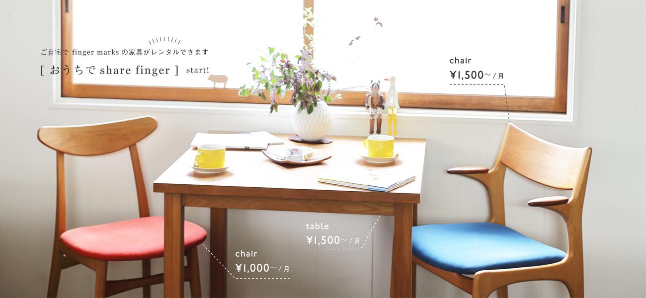 おしゃれな北欧デザイン家具レンタル月額が安いのはフィンガーマークス