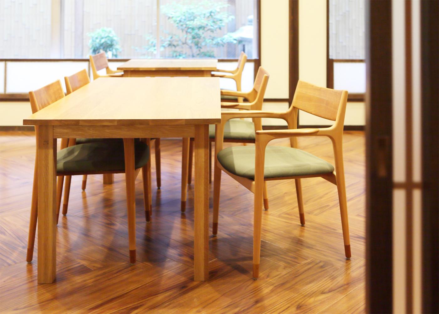 京都の旅館「緑風荘」様への家具納品事例