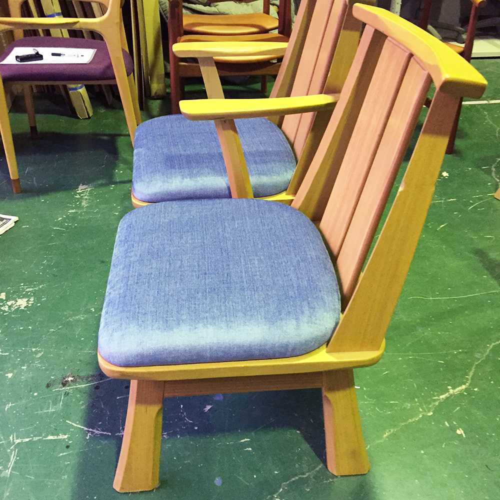 椅子修理・張り替え・塗り替え・修理リメイク事例