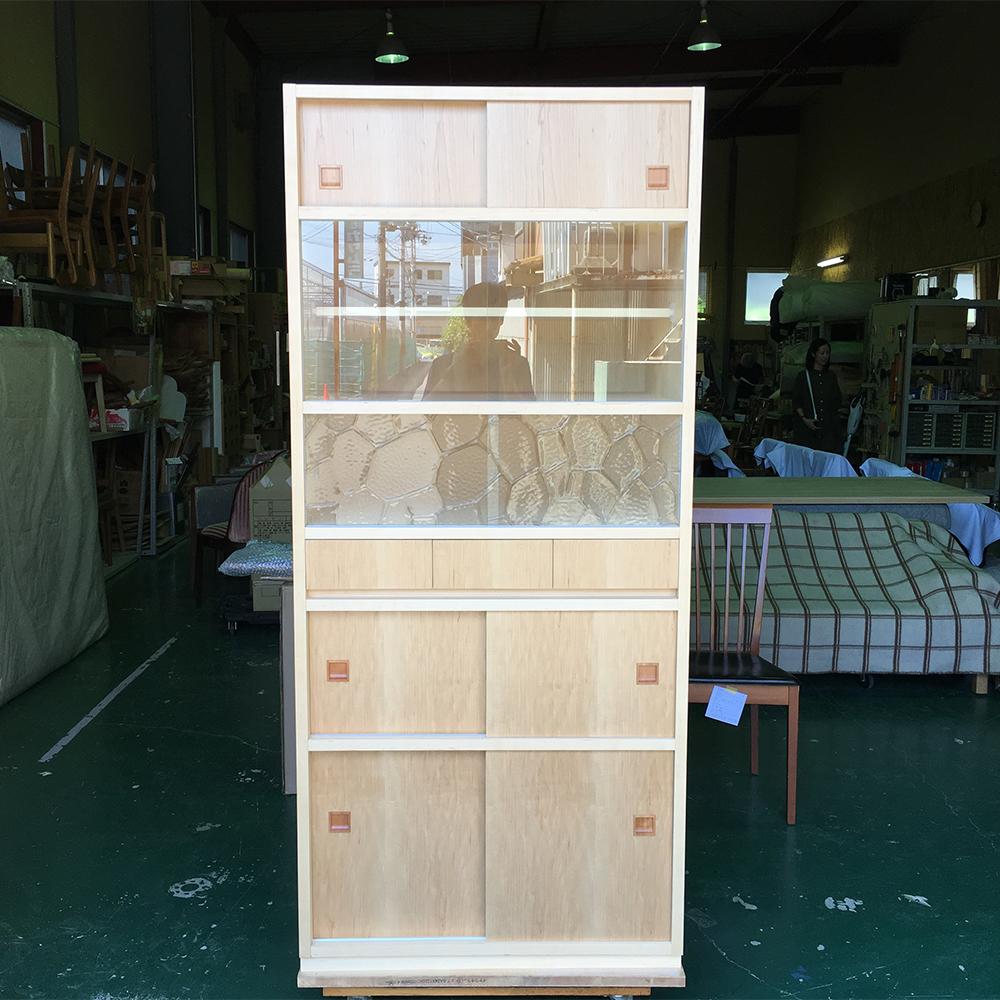 オーダーメイド家具製作事例_食器棚を製作しました