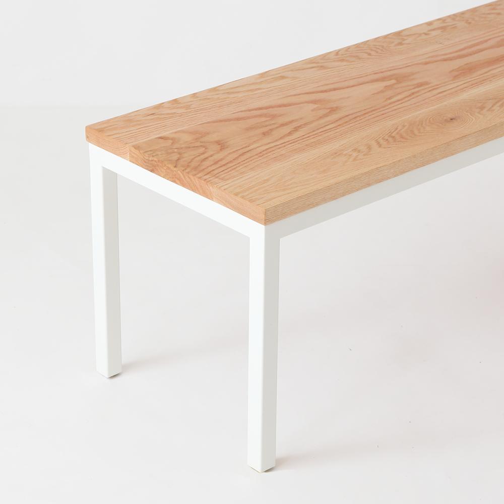 オーダーメイド家具製作事例_アイアン脚ベンチを製作しました