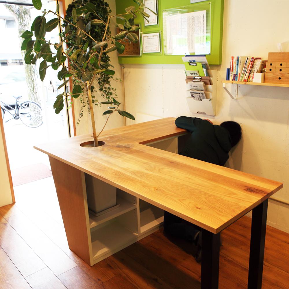 オーダーメイド製作事例_カウンターテーブルを製作しました