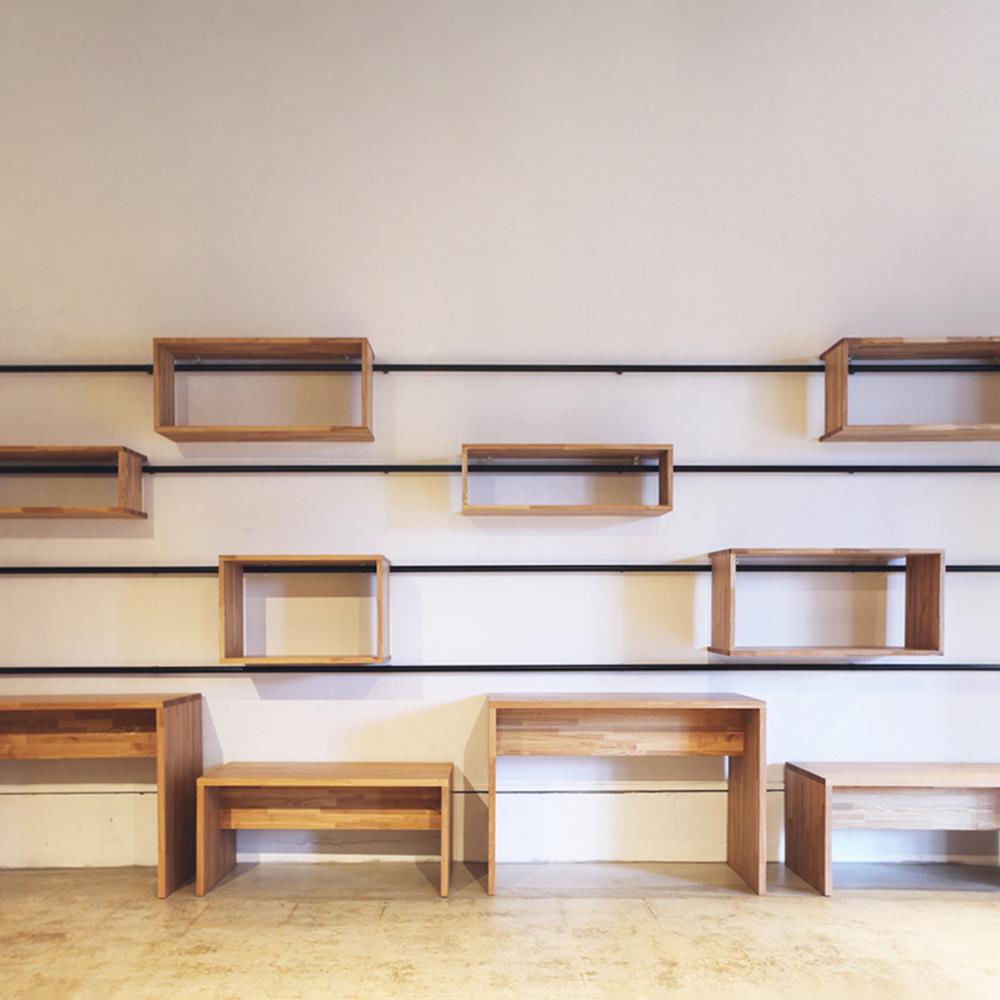 オーダー家具の壁面収納を製作しました