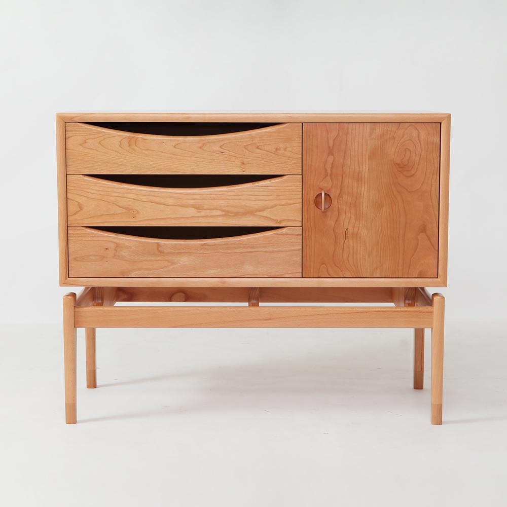 オーダーメイド家具製作事例_北欧デザインキャビネットを製作しました