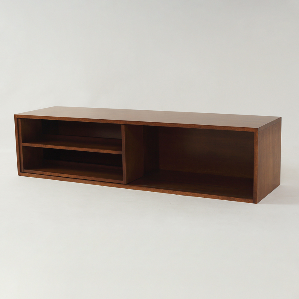 オーダーメイド家具製作事例_スライド式本棚